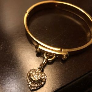 Authentic Juicy Couture bracelet with Charm heart